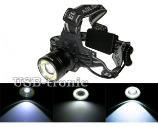 Налобный светодиодный фонарь MX-2185-T6 с 2 аккумуляторами 18650