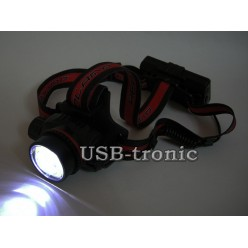 Фонарь налобный светодиодный HL-WT01 с 2 аккумуляторами 18650