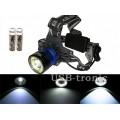 Фонарь налобный светодиодный H T-597 T6+COB с 2 аккумуляторами 18650