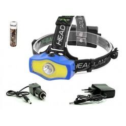 Фонарь налобный BL-929 LED+COB светодиоды 1 аккумулятор 18650