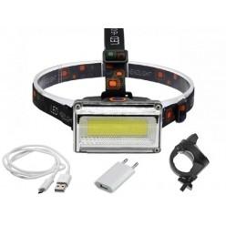 Фонарь налобный COB LL-6655B встроенный аккумулятор