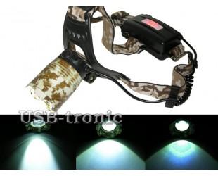 Светодиодный налобный фонарь JIN-2183-T6  с 2 аккумуляторами 18650