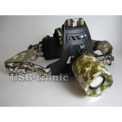 Фонарь налобный светодиодный MX-2183-T6 с 2 аккумуляторами 18650