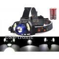 Налобный аккумуляторный фонарик YYC-860A-T6 + 2 светодиода COB