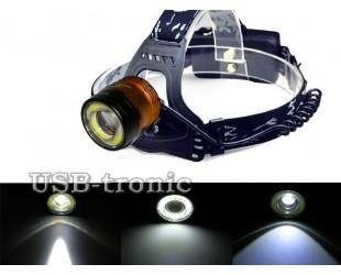 Налобный светодиодный фонарь MX-2120-T6 ZOOM