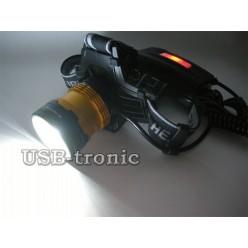 Фонарь налобный светодиодный MX-2120-T6 ZOOM с 2 аккумуляторами 18650