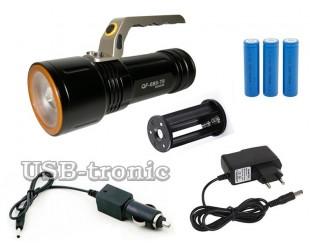Светодиодный фонарь с ручкой JIN-MX-688-T6 3 аккумуляторных батареи 18650 Алюминиевый корпус