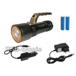 Ручной светодиодный фонарь с зумом HL-3409 2 аккумулятора 18650 Зарядка от сети