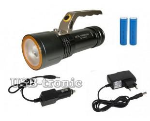Светодиодный ручной фонарь с зумом HL-3409 2 аккумулятора 18650 Зарядка от сети
