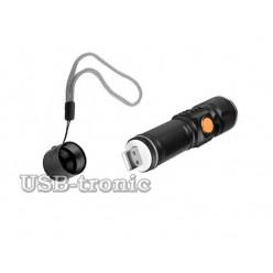 Aккумуляторный USB фонарь BL-515 с зумом светодиод Cree T6