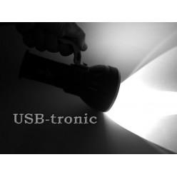 Светодиодный фонарь с ручкой H-630-T6 3 аккумулятора 18650