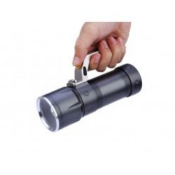 Ручной светодиодный аккумуляторный фонарь HL-3406 2 аккумулятора 18650 Металл (без зума)