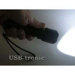 Подводный аккумуляторный фонарь H-396 светодиод Cree T6 1 x 18560 Металлический корпус