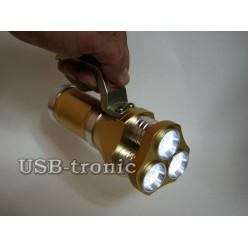 Ручной аккумуляторный фонарь прожектор HL-633-T6 3 x 18560