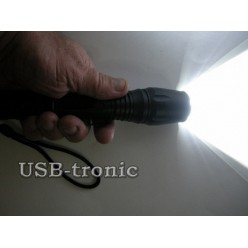 Ручной аккумуляторный фонарь HL-036B-T6 2 батарейки 18650 Металлический корпус