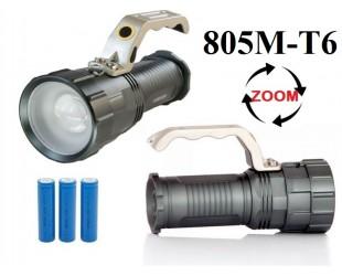 Аккумуляторный ручной фонарь прожектор JIN-805M-T6 3 x 18560 Металлический корпус