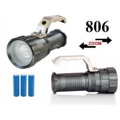 Светодиодный аккумуляторный фонарь прожектор JIN-806-T6 Светодиод Cree XM-L T6 3 x 18560