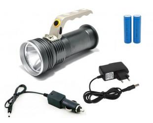 Ручной аккумуляторный фонарь YYC-3407 с зумом (zoom) 2 аккумулятора 18650