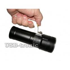 Ручной светодиодный фонарь с зумом H-458-T6 2 аккумулятора 18650 Зарядка от сети