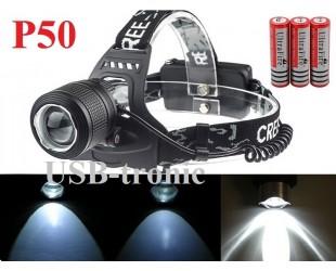 Налобный фонарь JIN-33M-P50 светодиод XHP50 аккумуляторы 3x18650