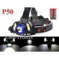 Аккумуляторный налобный фонарик Поиск Р-150-P50 светодиод XHP50