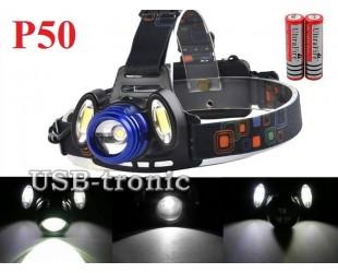 Аккумуляторный налобный фонарик Поиск Р-150-P50 светодиод XHP50 2x18650