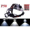 Мощный налобный фонарь JIN-219-P50 светодиод XHP 50 3x18650