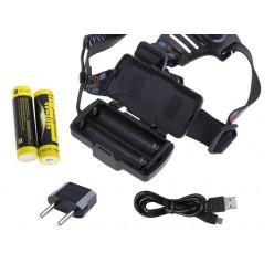 Мощный налобный фонарь H-722-P50 светодиод XHP50 2x18650