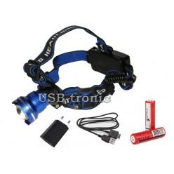 Мощный аккумуляторный налобный фонарь GL-24 светодиод P50 2x18650