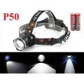 Мощный налобный фонарь JIN-24M-P50 светодиод P50 2x18650