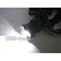 Мощный аккумуляторный налобный фонарь T70 светодиод P70 3x18650