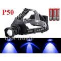 Синий налобный фонарь YYC T50-2 светодиод P50