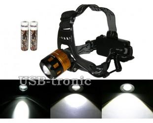 Налобный аккумуляторный фонарь MX-2122-T6 с зумом (zoom)