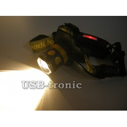 Светодиодный аккумуляторный налобный фонарь с зумом H-T521