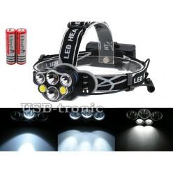 Налобный аккумуляторный фонарь JIN-2191M-T6 7 фар