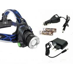 Фонарь налобный аккумуляторный YYC-6699-T6 с зумом (zoom)