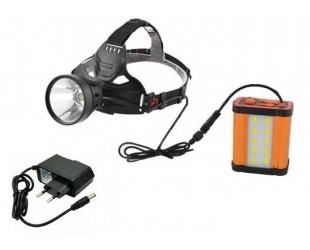 Мощный аккумуляторный налобный фонарь W-631 с выносным аккумулятором