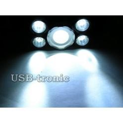 Мощный аккумуляторный налобный фонарь Boruit P-T15C-T6