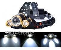 Фонарь аккумуляторный налобный Boruit MX-006 светодиод Cree XML-T6