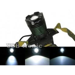 Светодиодный налобный фонарь YT-K12-T6 аккумуляторный блок на 2 батарейки 18650