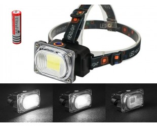 COB фонарь налобный HT-542 1 аккумулятор 18650