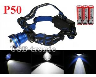 Мощный аккумуляторный налобный фонарь GL-24 светодиод XH P50 3x18650 Цена 999 руб