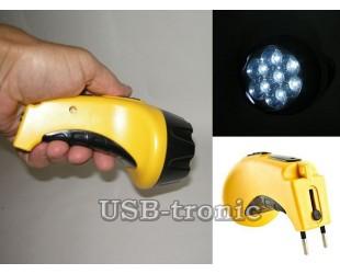 Светодиодный аккумуляторный фонарь LY 825-A с вилкой для зарядки