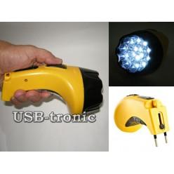 Ручной аккумуляторный фонарь с вилкой для зарядки GD-612LX 15 LED