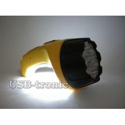 Ручной аккумуляторный фонарь с зарядкой от розетки GD-6120LX 15+10 LED