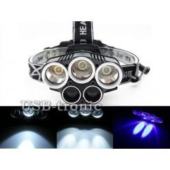 Налобный аккумуляторный фонарь H-T476A с синим светом