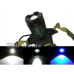 Фонарь налобный YYC-2188-2 ZOOM с синим светом