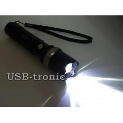 Тактический аккумуляторный фонарь H-8008 светодиод Cree 1 x 18560 Металлический корпус