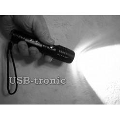 Тактический аккумуляторный фонарь YY-T509-T6 светодиод Cree 1 x 18560