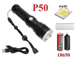 Мощный ручной фонарь со светодиодом XHP50 Огонь H-698-P50  аккумулятор 1x18650